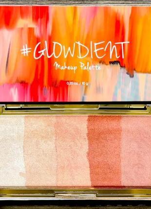 Хайлайтер touch in sol pretty filter glowdient makeup palette шиммер для тела