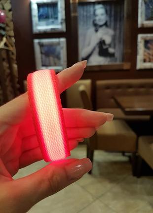 Детский неоновый светодиодный защитный браслет!!!