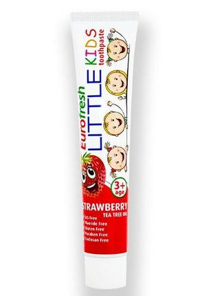 Детская зубная паста eurofresh little kids strawberry toothpaste клубника от farmasi, 50гр