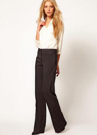 H&m классические брюки в полоску