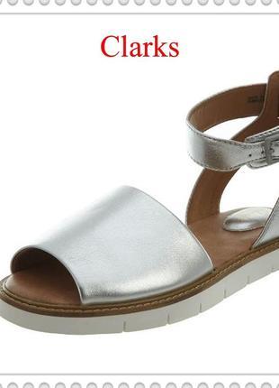 Clarks оригинал женские стильные кожаные босоножки р, 41