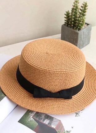 Соломенная шляпка конотье
