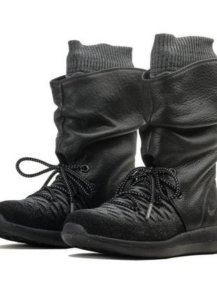 Новые сникербуты nike кроссовки ботинки сапоги найк оригинал кожа + flyknit непромокаемые