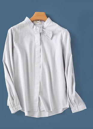 Базовая рубашка серого цвета
