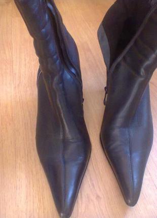 Ботинки кожаные черные демисезонные clotilde