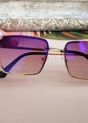 Модные солнцезащитные очки в металлической оправе 2021