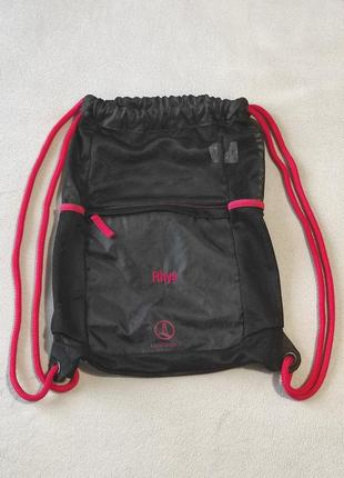 Рюкзак тонкий сетчатый с одним плотным карманом
