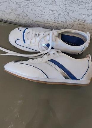 Кожаные кроссовки tommy hilfiger