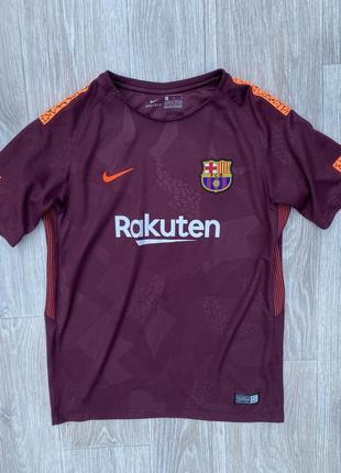 Nike barcelona футболка оригинал подростковая барса