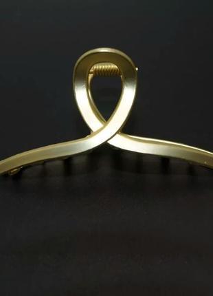 Краб для волос металлический, золотой