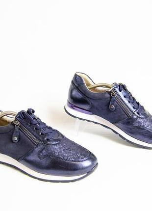 Gabor женские кожаные кроссовки оригинал! германия! размер 40-41 26 см
