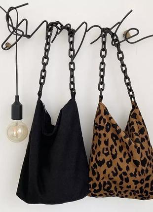 Летняя распродажа скидки вельветовая сумка ручка цепь сумка шопер леопард принт