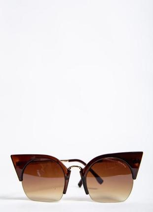 Очки женкие солнцезащитные цвет коричневый