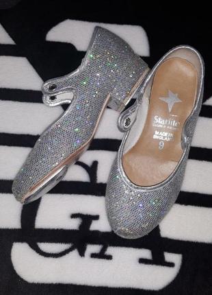 Туфли танцевальные чечётка фирма starlite 16,5 см