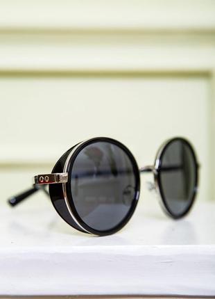 Очки женские солнцезащитные цвет черно-золотистый