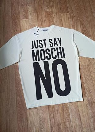 Женское платье футболка moschino оверсайз