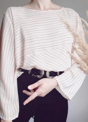 Блузка туника в полоску асимметричного кроя tendency