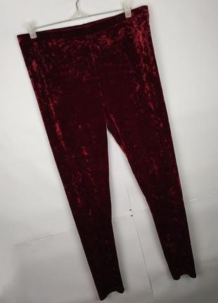 Штаны брюки лосины новые стильные велюровые uk 16/44/xl