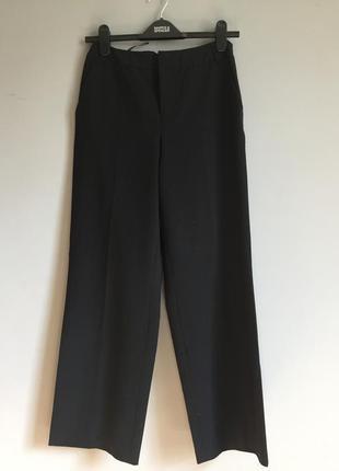 Брюки чёрные на талию ( высокие ) mexx смесовая шерсть