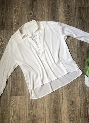 Шёлкова блузка премиум бренда marc cain  на размер м-л