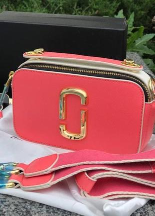 ❤ женская розовая кожаная сумочка сумка mark jacobs ❤