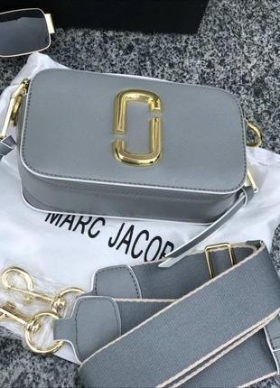 ❤ женская серая кожаная сумочка сумка mark jacobs ❤