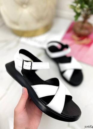Босоножки боссоножки сандалии с переплетом натуральная кожа