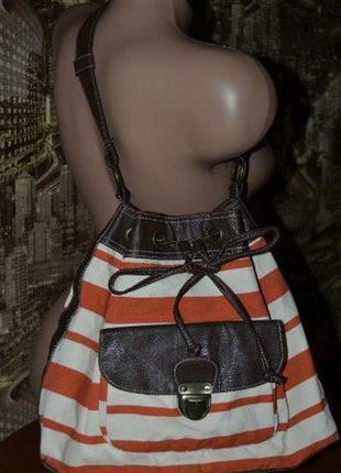 Сумочка,сумка  текстиль  в полосатый принт