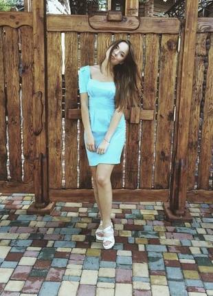 Платье голубое must have 36 размер2 фото