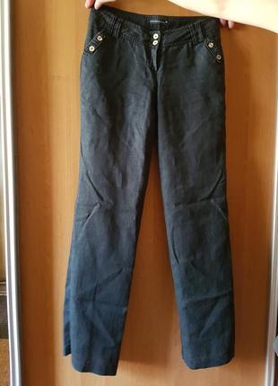 Льняные черные брюки vangeliza