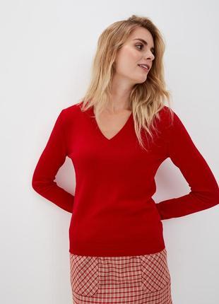 Красный пуловер united colors of benetton шерсть