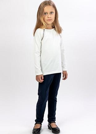 Блузка шкільна з довгим рукавом