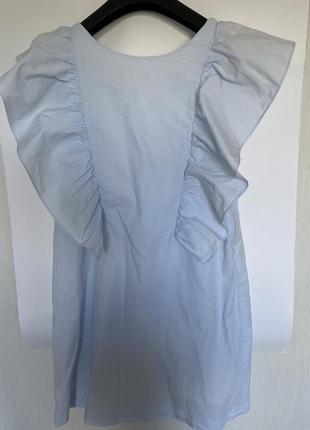 Тренд сезона! стильное голубое платье с открытой спиной