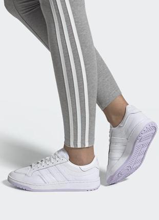 Adidas оригинал кожаные белые кроссовки
