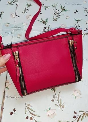 🎁1+1=3 стильная маленькая розовая сумочка сумка через плечо кросбоди new look