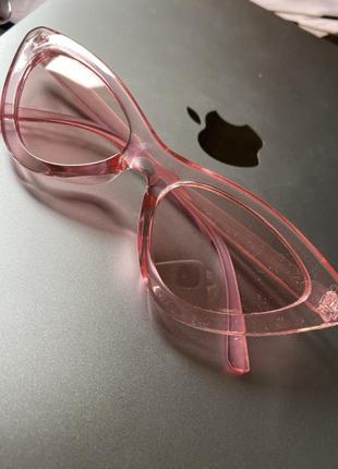 Очки солнцезащитные розовые стильные оригинальные