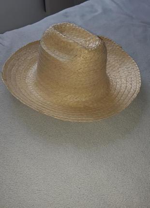 Новая натуральная шляпа из листьев пальмы. брыль.