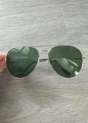 Солнцезащитные очки авиаторы, капли, защита 400 uv