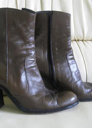 Ботильоны ботинки кожаные стильные
