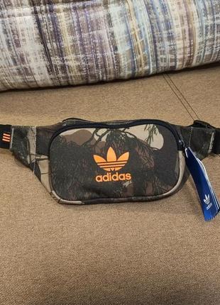 Сумка бананка adidas camo waist bag
