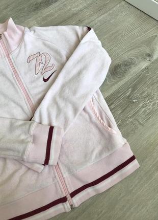 Олимпийка nike велюровая розовая