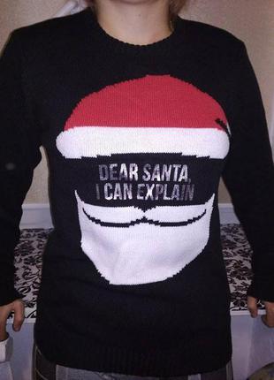 Різдвяний чорний светр сведрик