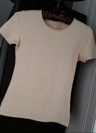 🌿 базовая утягивающая беж футболка atlantic xs