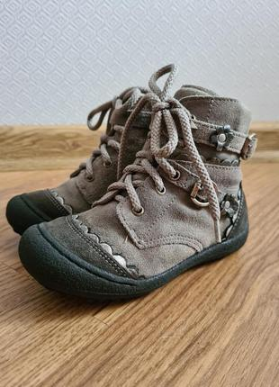 Демисезонные кожаные ботинки для девочки primigi 24 р. 16 см сапожки осенние весенние межсезонные