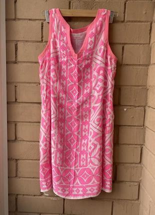 Шёлковый яркий сарафан, летнее платье с шелка