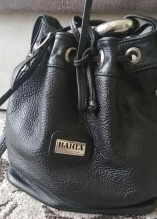 Сумка мешок ведро кожаная bahia collection италия