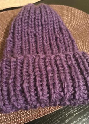 Зимняя вязаная модная женская шапка