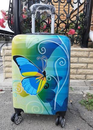 Женский дорожный чемодан из поликарбоната ручная кладь