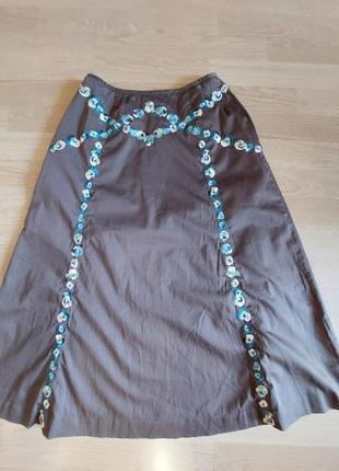 Дизайнерская, нарядная юбка.