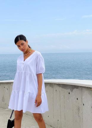 Белое платье летнее